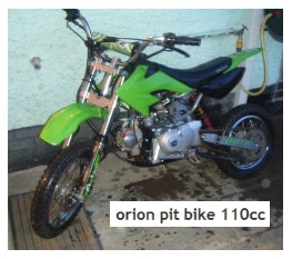 orion pitbike 110cc dirt bike