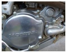 part of a honda dirtbike cr125 engine