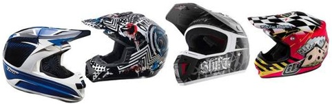 more pit bike and motorcross helmets