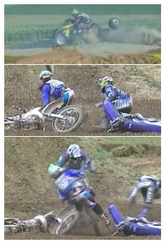 quad loses a wheel bad mx crash accident