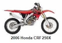 the 2006 Honda CRF 250 motocross bike