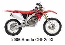 the 2006 Honda CRF 250 motocross bike