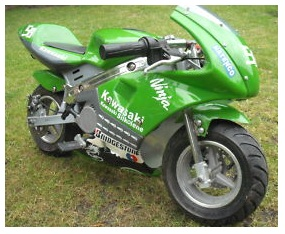 the Kawasaki Ninja bike Mini moto pocket motorbike