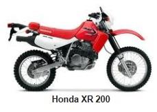 the honda XR 200 dirt bike