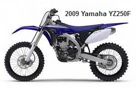 the old 2009 yamaha dirtbike YZ-250F