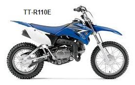 the yamaha TT-R110E dirt bike motocross bike