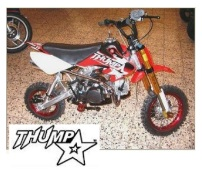thumpstar logo and thumpstar pitbike for sale