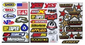 variety of motocross graphics for MX bikes