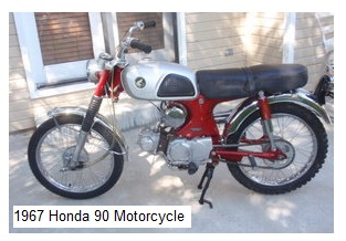 vintage 1967 Honda CL90 motocross bike
