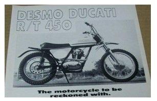 1971 Ducati 450 RT MX bike