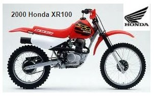 2000 Honda XR 100 dirtbike