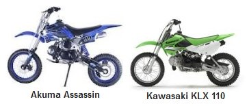 Akuma Assassin PitBike and the Kawasaki KLX110
