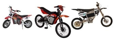 Different sorts of electric dirtbike and motocross bike