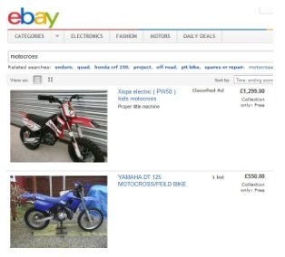 Ebay has plenty of used dirtbikes and motocross bikes for sale