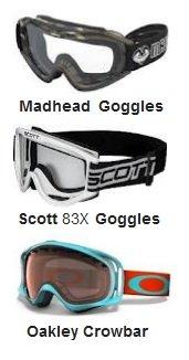 MADHEAD pitbike goggles Scott Model 83 MX Goggles Oakley Crowbar Goggles