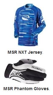 MSR NXT series jersey MSR Phantom gloves