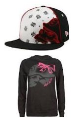 Metal Mulisha Ladies Sweatshirt and Metal Mulisha Red Twitch cap
