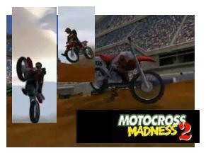 Motocross madness 2 screenshots and logo