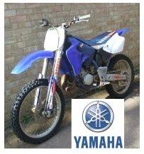 The Yamaha YZ125 dirt bike motocross bike