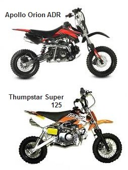 Thumpstar Super 125cc and the Apollos Orion ADR