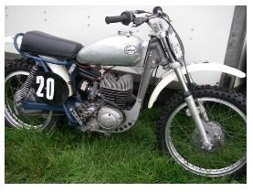 a 1963 greeves classic vintage motocross bike