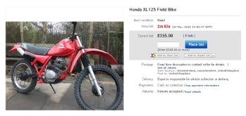 a common dirt bike for sale advert