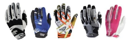 a selection of motocross gloves to own