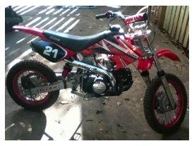 an orion 125cc pitbike dirtbike