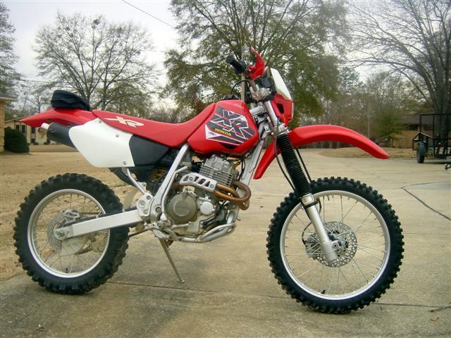 a honda dirt bike from a dealer