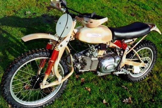 bike dirt vintage yamaha