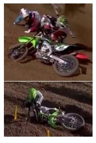 having a motocross crash MX fall