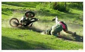 mini dirt bike crash accident