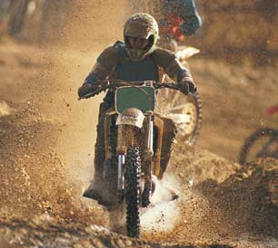 motocross racing with Honda