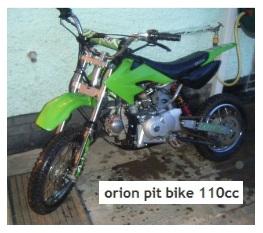 orion pitbike 110cc dirt bike
