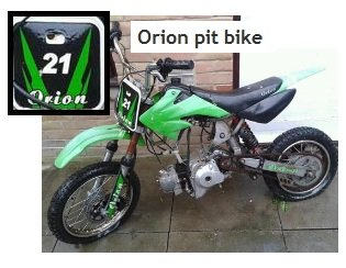 owning an orion pit bike for motocross
