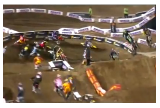 supercross race fast action