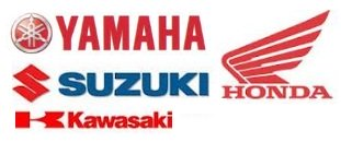 the big four Dirtbike motocross manufacturers logos