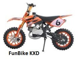 the FunBike KXD for kids who love dirtbikes