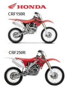 the honda CRF150R and CRF250R dirt bikes