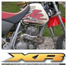 the old honda XR motocross bikes