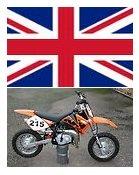 uk english mini motocross bikes