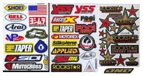 variety of motocross graphics for MX bikes