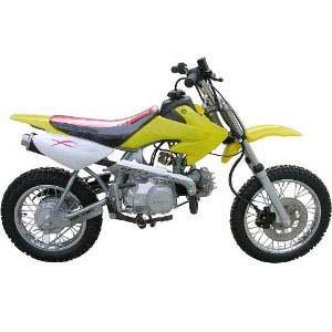 yellow dirt bike