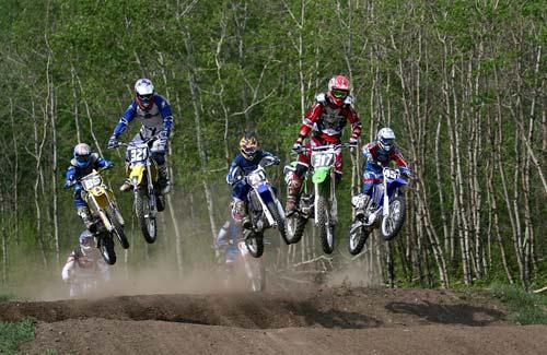 Honda motocross racing
